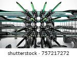 abstract dynamic interior with...   Shutterstock . vector #757217272