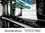 abstract dynamic interior with...   Shutterstock . vector #757217302