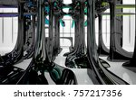 abstract dynamic interior with...   Shutterstock . vector #757217356