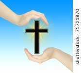 hand gestures with cross | Shutterstock . vector #75721870