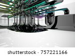 abstract dynamic interior with...   Shutterstock . vector #757221166