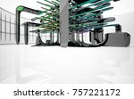 abstract dynamic interior with...   Shutterstock . vector #757221172