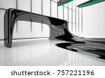 abstract dynamic interior with...   Shutterstock . vector #757221196