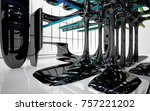 abstract dynamic interior with...   Shutterstock . vector #757221202