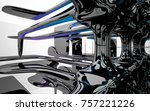 abstract dynamic interior with...   Shutterstock . vector #757221226