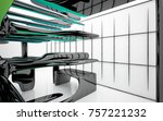 abstract dynamic interior with...   Shutterstock . vector #757221232