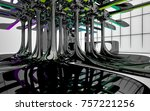 abstract dynamic interior with...   Shutterstock . vector #757221256
