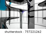 abstract dynamic interior with...   Shutterstock . vector #757221262