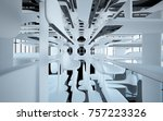 abstract dynamic interior with...   Shutterstock . vector #757223326