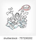 bureaucracy vector illustration ... | Shutterstock .eps vector #757230202