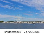 panorama of national harbor... | Shutterstock . vector #757230238