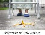 careless elderly woman step... | Shutterstock . vector #757230706