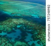 aerial view of moore reef on... | Shutterstock . vector #757248982