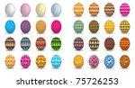 8 sets of easter eggs  vector...   Shutterstock .eps vector #75726253