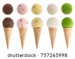 ice cream isolated on white... | Shutterstock . vector #757265998
