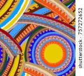 beautiful ethnic seamless... | Shutterstock .eps vector #757272652