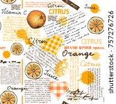 seamless background pattern.... | Shutterstock .eps vector #757276726
