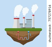 geothermal energy concept. eco...   Shutterstock .eps vector #757278916