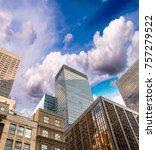 spectacular street upward view... | Shutterstock . vector #757279522