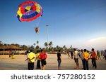 colva beach  south goa  india.... | Shutterstock . vector #757280152