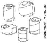 vector set of can | Shutterstock .eps vector #757287382