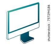 monitor computer technology... | Shutterstock .eps vector #757294186