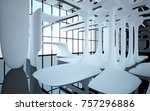 abstract dynamic interior with... | Shutterstock . vector #757296886