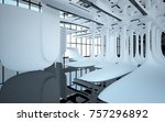 abstract dynamic interior with... | Shutterstock . vector #757296892