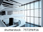 abstract dynamic interior with... | Shutterstock . vector #757296916
