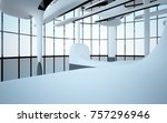 abstract dynamic interior with... | Shutterstock . vector #757296946