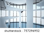 abstract dynamic interior with... | Shutterstock . vector #757296952