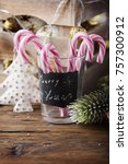 christmas decoration on the... | Shutterstock . vector #757300912