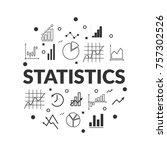 statistics subject set vector   Shutterstock .eps vector #757302526
