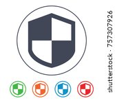 protection shield icon   Shutterstock .eps vector #757307926