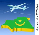 airlifts mauritania | Shutterstock .eps vector #75730840