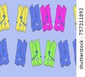 pins  seamless pattern. hand... | Shutterstock . vector #757311892