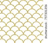 glitter mermaid tail seamless... | Shutterstock .eps vector #757331356