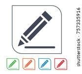 compose vector icon | Shutterstock .eps vector #757335916