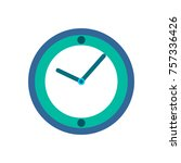 a clock vector design | Shutterstock .eps vector #757336426