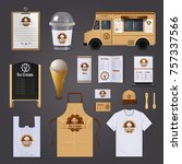 ice cream corporate identity... | Shutterstock . vector #757337566
