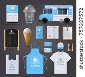 ice cream corporate identity... | Shutterstock . vector #757337572