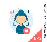search for girls by photos... | Shutterstock .eps vector #757339855