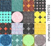 abstract 1980 memphis geometric ...   Shutterstock .eps vector #757345732
