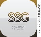 logo letter combinations s  s... | Shutterstock .eps vector #757346506