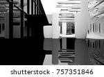 abstract dynamic interior with... | Shutterstock . vector #757351846