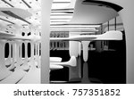 abstract dynamic interior with... | Shutterstock . vector #757351852