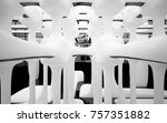 abstract dynamic interior with... | Shutterstock . vector #757351882