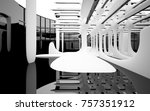 abstract dynamic interior with... | Shutterstock . vector #757351912