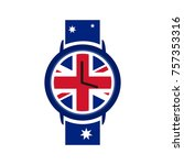 watches vector design with... | Shutterstock .eps vector #757353316