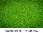 artificial grass field | Shutterstock . vector #75735406